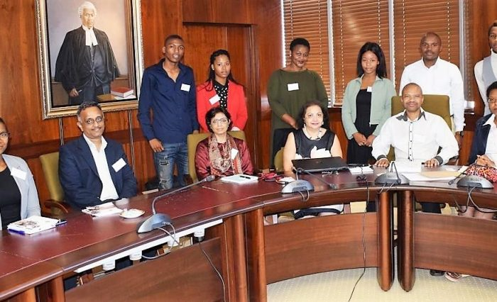 Members of the Wadhwani Foundation (WF) and MUT staff and students during a strategic meeting at MUT recently