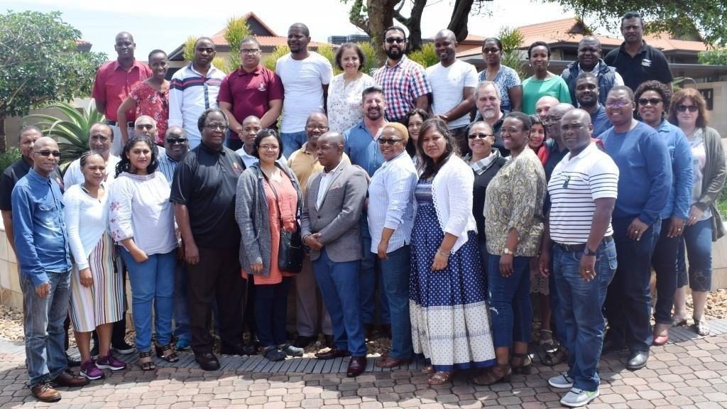 The Teaching and Learning Portfolio, with Prof Ramogale, fourth from right, front row