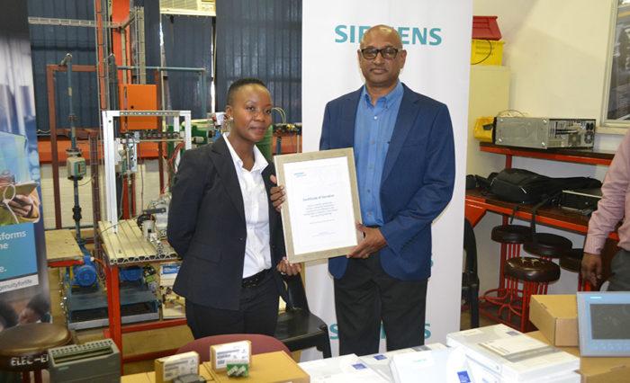 Ntokozo Cele and Prof Ralph Naidoo