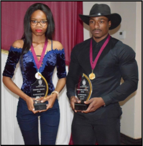Sportswoman and sportsman of the year, Sinethemba and Philani