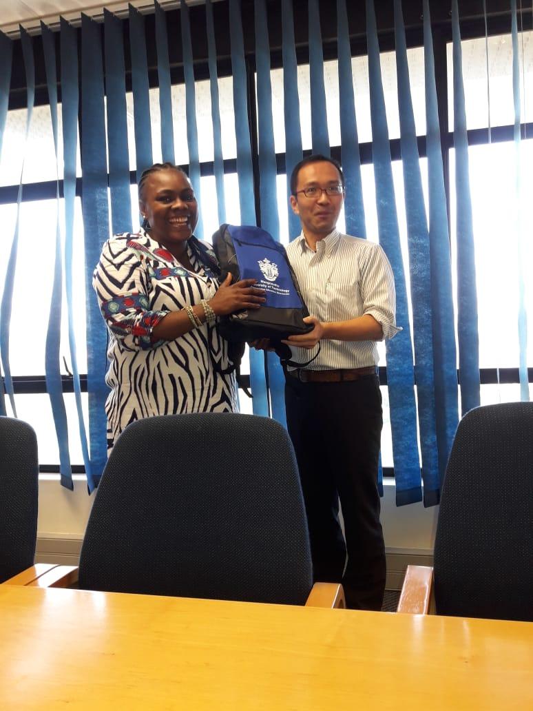 Ms Lindiwe Myende with Azaki-san