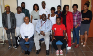 SRC members with some staff during the workshop