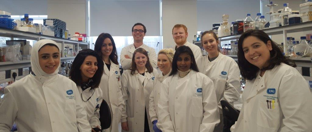 Roxanne, second from right, with University of Birmingham staff