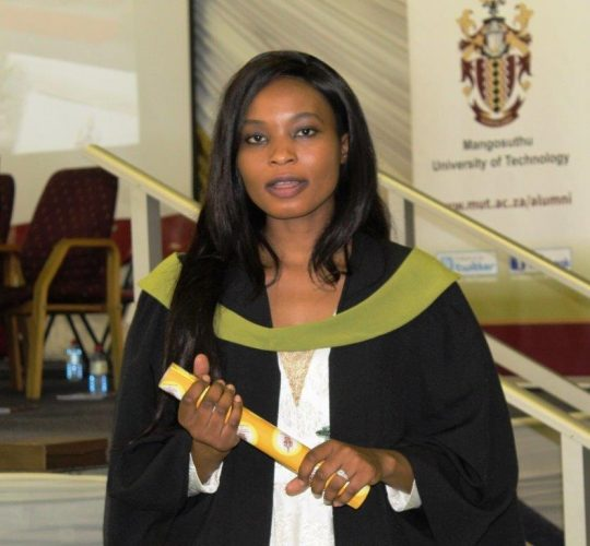 Mbole Ntunka, international students graduate at MUT