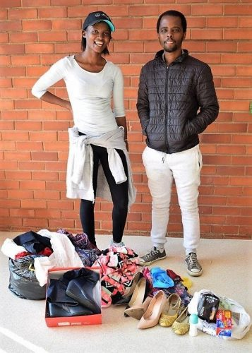Act of kindness! Nonele, left, and Yandisa at MUT