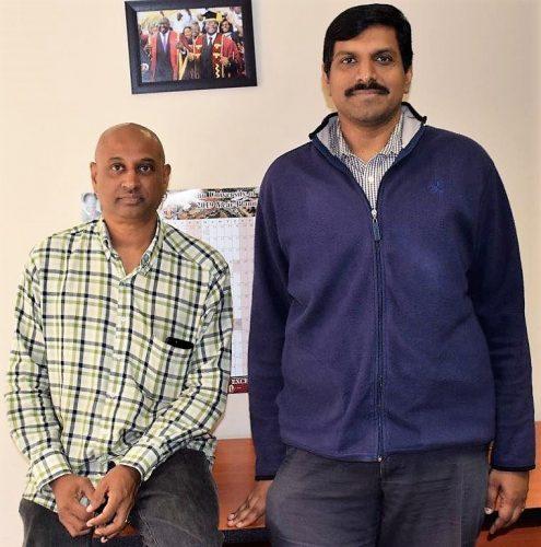 Prof Naidoo, seated, and Anil
