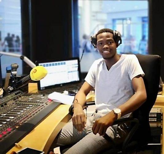 Sam in one of the East Coast Radio studios
